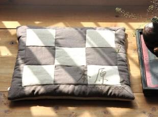 原创手工 拼布亚麻/椅子垫/沙发垫/坐垫/飘窗垫/塌塌米垫 夏季,坐垫,