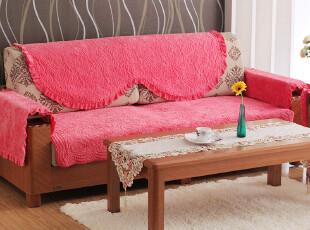 6004 西瓜红 短毛绒沙发垫 田园布艺沙发垫 沙发垫 坐垫 沙发坐垫,坐垫,