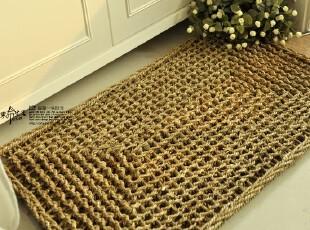【素布生活】超强韧。海草门垫。手工草编藤编门垫/入户地垫/地毯,坐垫,