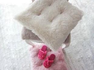 韩国代购 毛茸茸冬季保暖甜蜜三色坐垫/椅垫车用 毛毛坐垫,坐垫,