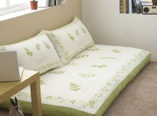 韩国棉质清新叶子印花房席坐垫飘窗垫套装,坐垫,