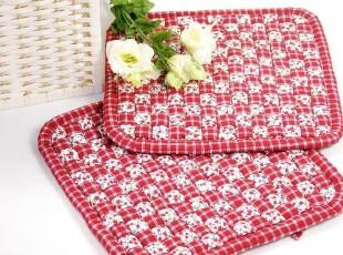 花样时光 红色编织办公坐垫椅垫餐椅垫,坐垫,
