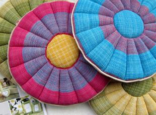 野百合 外贸坐垫 纯棉手工草编蒲团垫子 沙发垫 椅子垫 飘窗垫,坐垫,