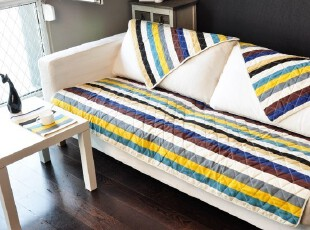 夏季 新品纯棉帆布布艺条纹 沙发坐垫 防滑沙发巾 飘窗垫 沙发垫,坐垫,