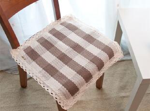 纯棉编织 绅士咖 坐垫 餐椅垫 椅子垫 座垫 可用作扶手巾,坐垫,