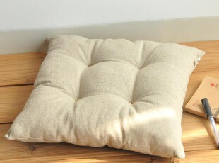 原创素色亚麻 坐垫台垫 飘窗垫窗台垫椅子垫 沙发垫/垫子/定做,坐垫,