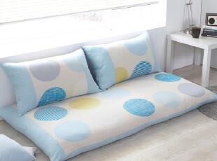 韩国棉糖果色圆点波点房席坐垫飘窗垫套装,坐垫,