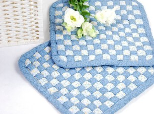 花样时光  蓝色编织办公坐垫椅垫餐椅垫,坐垫,