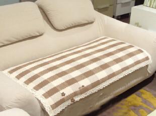 日式 纯棉线编织*沙发垫*坐垫*飘窗垫*扶手巾 靠背巾 咖啡格子,坐垫,