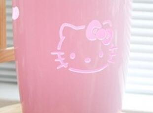 ★公主梦想★韩国家居*Hello Kitty*可爱粉色猫头垃圾桶W1376,垃圾桶,
