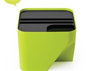 代购 QUALY 创意垃圾桶/可任意折叠组合式垃圾桶/20L/四色可选,垃圾桶,