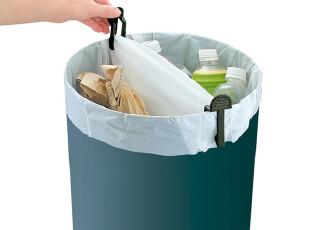 日本进口垃圾夹 塑料袋夹子 垃圾桶袋固定夹 垃圾桶夹 黑色2个入,垃圾桶,