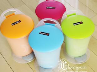 时尚圆形手提 可爱垃圾桶 创意脚踏式收纳桶 家用 多彩糖果亮色,垃圾桶,