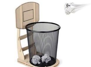 """Sukoo素客 """"篮筐""""纸篓环保木制垃圾桶篮球公园纸篓(升级版),垃圾桶,"""
