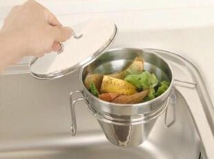 『韩国进口家居』mc2174 厨房实用水池不锈钢沥水垃圾桶,垃圾桶,
