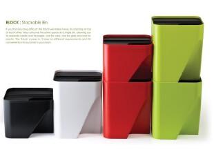 代购 QUALY创意垃圾桶/ 可任意折叠组合式垃圾桶/30L/四色可选,垃圾桶,