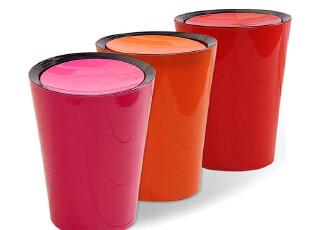 欧润哲 3只包邮 塑料摇盖可乐垃圾桶 橱柜日式收纳桶创意清洁用具,垃圾桶,
