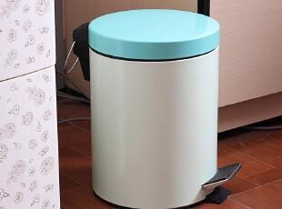 粉色渐变家用厨房垃圾桶日式脚踏 日本翻盖卫生间韩国时尚创意,垃圾桶,