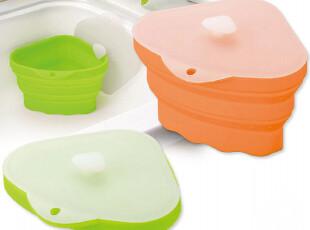 日本arnest硅胶生鲜小垃圾桶 桌面水槽沥水架 颜色可选绿色橙色,垃圾桶,