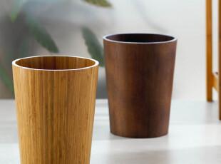 欧洲品牌卫浴SPIRELLA 简约时尚MAXlight个性竹木色垃圾桶 废纸篓,垃圾桶,