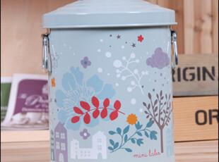 格陵岛独家首发 日本单丝印满幅图案储物桶/收纳桶/垃圾桶/洗衣粉,垃圾桶,