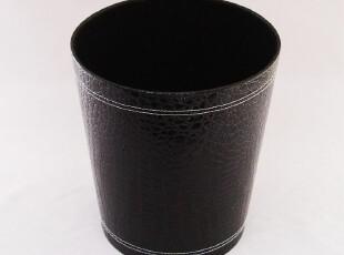 高贵黑色鳄鱼纹皮垃圾桶房间桶办公废纸篓房间桶辉航品牌直销,垃圾桶,