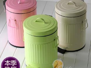 全国包邮 罗马邮筒 创意时尚脚踏垃圾桶 外贸家用可爱糖果色5L12L,垃圾桶,
