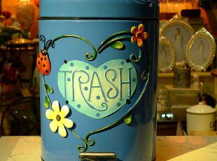 出口欧美 创意时尚铁艺家居摆件  垃圾桶 包邮,垃圾桶,