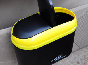 汽车用品 最新款垃圾箱 车用便携式垃圾桶 置物箱 可挂可贴 车饰,垃圾桶,