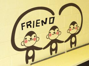 *家艺墙贴*儿童卡通韩风时尚浪漫装饰DIY卡通浪漫 我的朋友们,墙贴/开关贴,