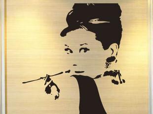 大号包邮奥黛丽赫本  赫本墙贴 人物头像女人头像墙贴,墙贴/开关贴,