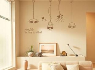 满68包邮 light创意贴 韩国装饰墙贴餐厅卧室玄关背景个性贴M073,墙贴/开关贴,