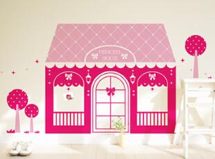 【Asa room】韩国进口壁贴 卧室贴纸创意DIY可爱房子墙贴多色a522,墙贴/开关贴,