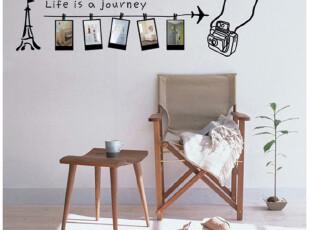 特价照片墙贴 照片框相片贴 客厅走廊背景贴纸 1140旅行的意义,墙贴/开关贴,