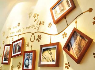 冠良品牌  彩色照片墙 墙贴 相片墙 相框墙组合创意 装饰画 墙饰,墙贴/开关贴,