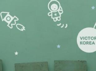 【Asa room】韩国进口代购壁贴时尚儿童梦游太空创意卧室墙贴a400,墙贴/开关贴,