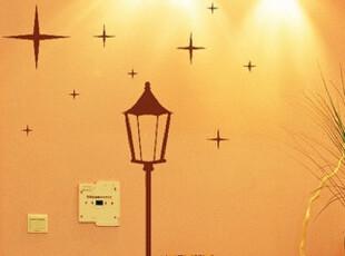 QT-113 浪漫路灯-爱慕 韩国DIY墙贴 贴纸,墙贴/开关贴,