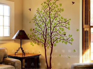 家艺墙贴 人气爆款  超大面积 客厅贴 相思树,墙贴/开关贴,