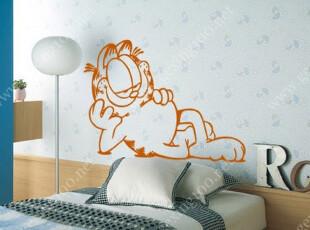 加菲猫偷闲 时尚墙贴 搞笑卡通壁纸 流行壁贴纸 宜家装饰 DE2,墙贴/开关贴,