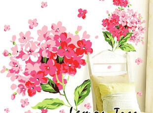 温馨花卉墙贴 客厅卧室沙发背景装饰可移除 创意墙贴 贴花 贴饰,墙贴/开关贴,