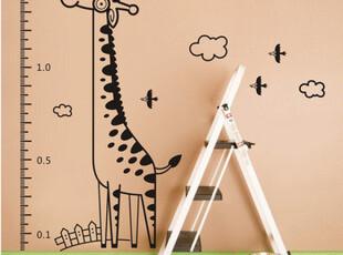 乐贴墙贴◆量身高小鹿◆可爱 卡通儿童房装饰大型量身高尺,墙贴/开关贴,