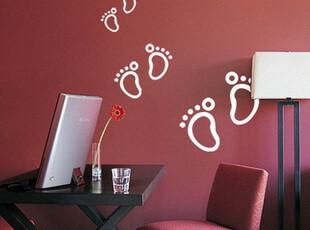 创意实用家居装饰用品 可爱脚丫 儿童房 橱窗 玻璃贴 家具贴 墙贴,墙贴/开关贴,