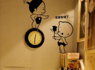 【乐宅】小破孩卡通创意墙贴 客厅卧室随处可贴 L-544,墙贴/开关贴,