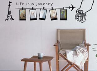 浪漫屋墙贴〖旅游记忆1-181〗客厅卧室照片墙背景相片贴相框贴,墙贴/开关贴,