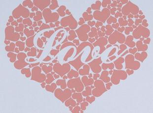 渡口特价可移除墙贴 卧室桃心贴纸温馨浪漫-love heart-0142,墙贴/开关贴,