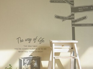 【Asa room】韩国进口代购壁贴 分开旅行创意客厅墙纸墙贴 a353,墙贴/开关贴,