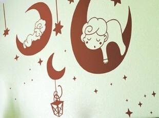 HYUNDAE自粘家居装饰贴纸 可爱天使卡通欧式墙贴 儿童房创意壁贴,墙贴/开关贴,