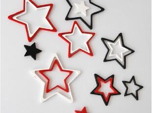 创意田园现代墙饰壁饰五角星立体墙贴可移除墙贴纸壁纸挂饰壁挂,墙贴/开关贴,