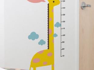 要和长颈鹿比高 儿童身高测量 糖糖墙贴 宜家 装潢 韩式墙贴T,墙贴/开关贴,