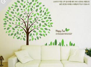 【 绿色树荫 】 时尚艺术墙贴 糖糖墙贴 宜家 韩式墙贴T,墙贴/开关贴,